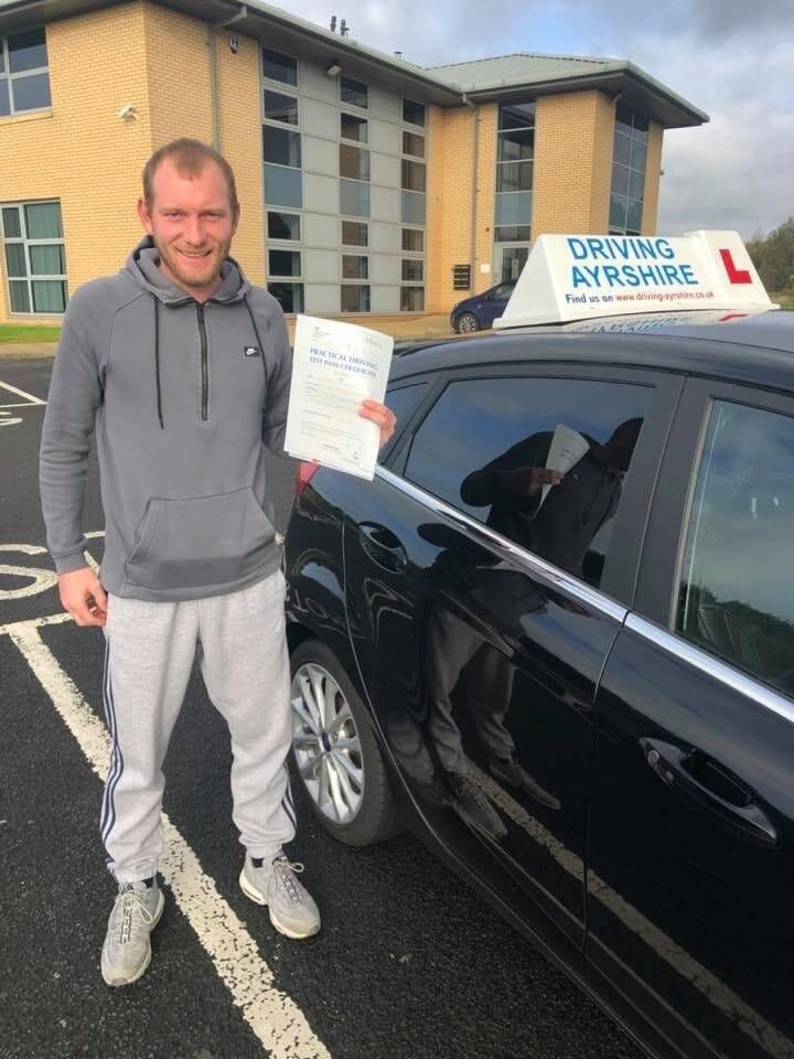 Driving Instructors Saltcoats - Robert Morrison test pass